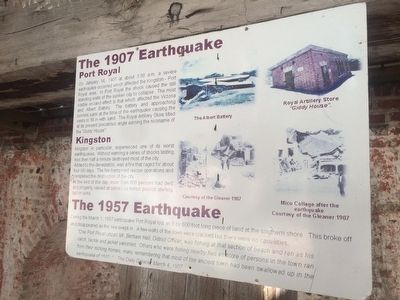 The 1907 and 1957 Jamaica Earthquakes Marker image. Click for full size.