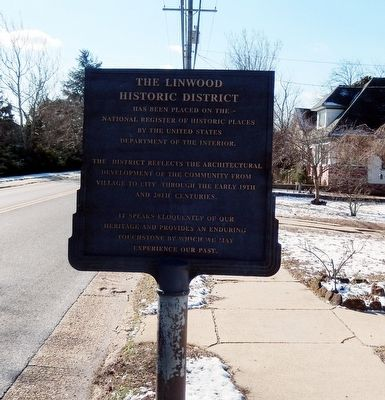 The Linwood Historic District Marker image. Click for full size.
