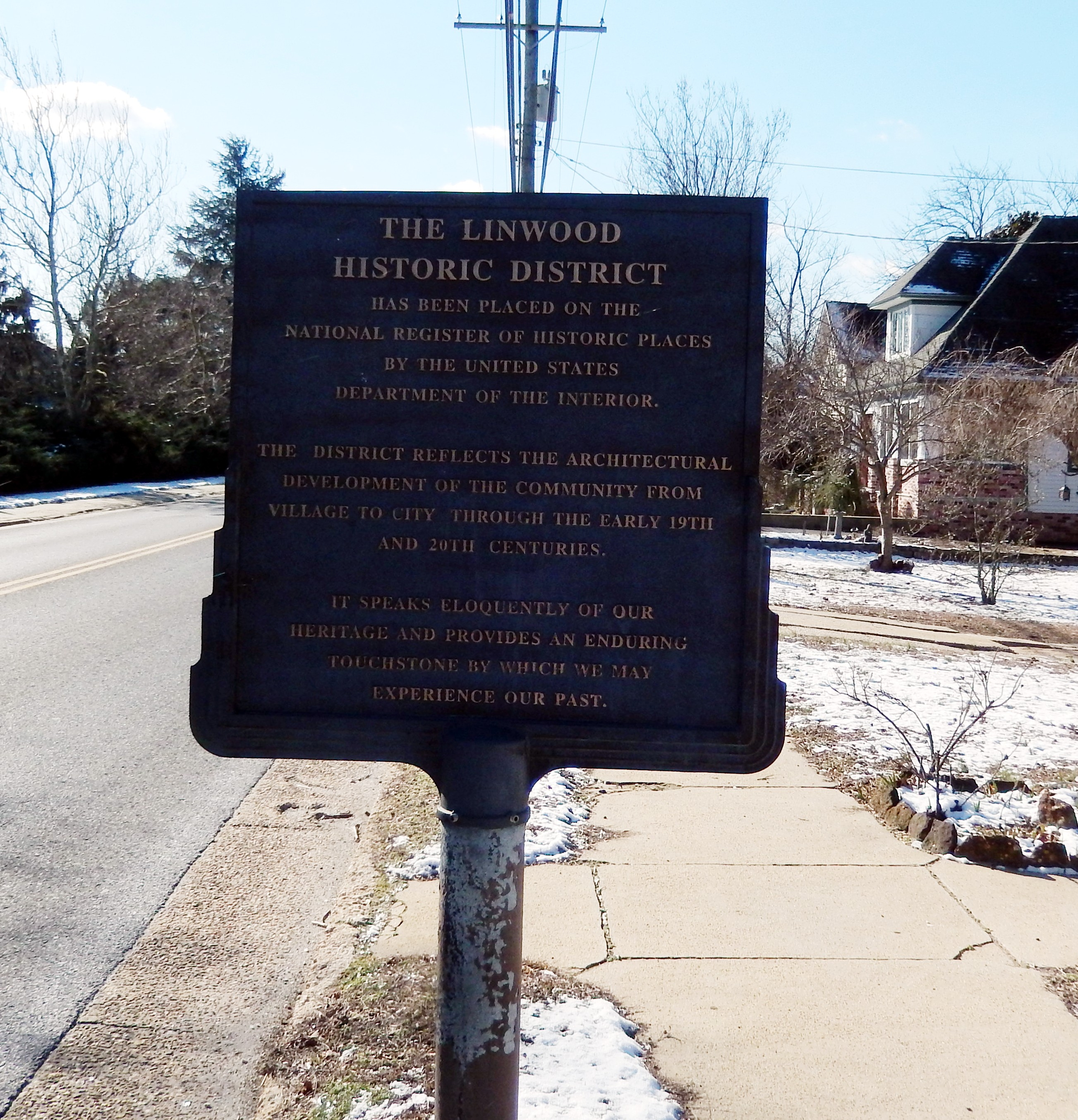 The Linwood Historic District Marker