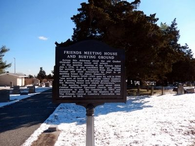 Friends Meeting House and Burying Ground Marker image. Click for full size.