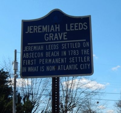 Jeremiah Leeds Grave Marker image. Click for full size.