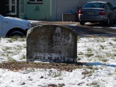 Jeremiah Leeds Grave Marker-Died in 1838 image. Click for full size.