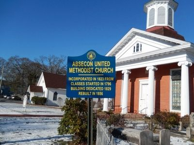 Absecon United Methodist Church Marker image. Click for full size.
