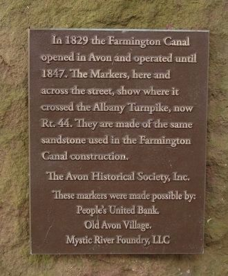 The Farmington Canal in Avon Marker image. Click for full size.