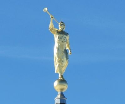 Angel Moroni tops the Hartford Connecticut Temple image. Click for full size.