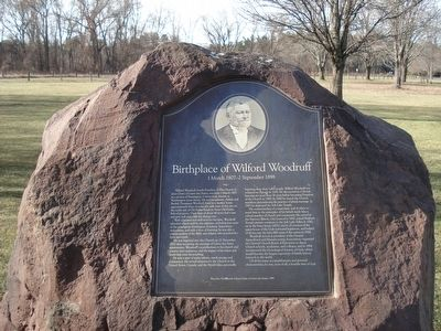 Birthplace of Wilford Woodruff Marker image. Click for full size.