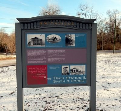 The Train Station & Smith's Forest Marker image. Click for full size.