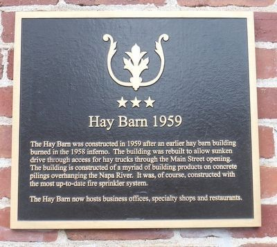 Hay Barn 1959 Marker image. Click for full size.