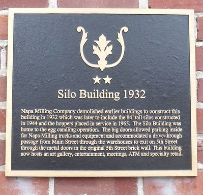 Silo Building 1932 Marker image. Click for full size.