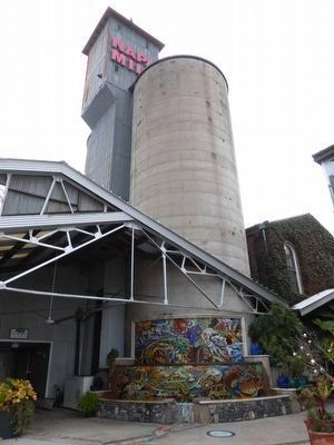 The Silo and Mosaic Fountain at the Napa River Inn image. Click for full size.