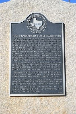 Texas Cowboy Reunion Oldtimers' Association Marker image. Click for full size.