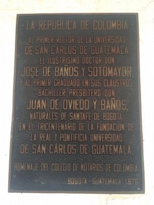 First Rector and Graduate of the University of San Carlos Marker image. Click for full size.