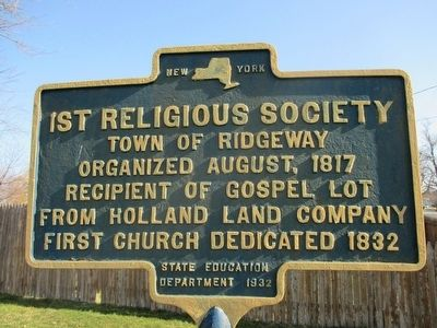 1st Religious Society Marker image. Click for full size.