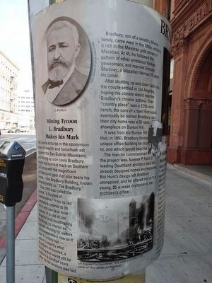 Bradbury Building Marker image. Click for full size.