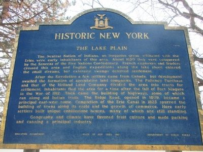 The Lake Plain Marker image. Click for full size.