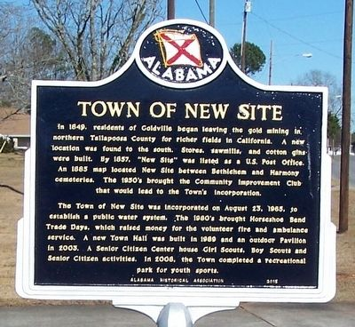 Town of New Site Marker image. Click for full size.