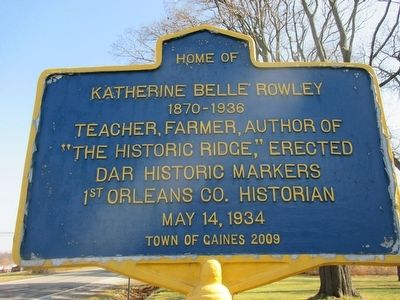 Home of Katherine Belle Rowley Marker image. Click for full size.