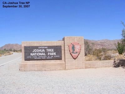 Joshua Tree National Park entrance sign image. Click for full size.
