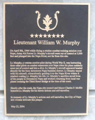 Lieutenant William W. Murphy Marker image. Click for full size.