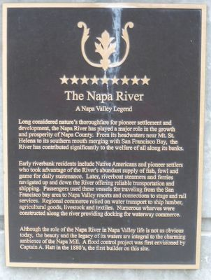 The Napa River Marker image. Click for full size.