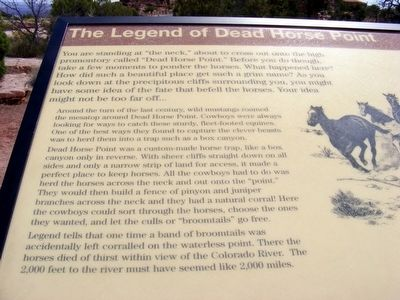 The Legend of Dead Horse Point Marker image. Click for full size.
