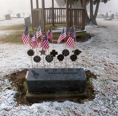 Pleasant Township Veterans Memorial Marker image. Click for full size.