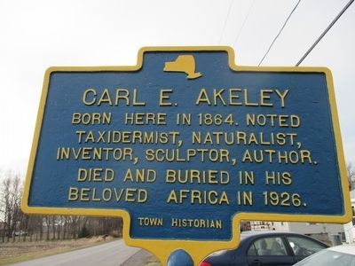 Carl E. Akeley Marker image. Click for full size.