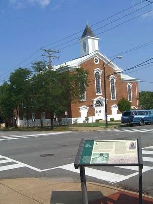 Shiloh Baptist Church (New Site) and Marker image. Click for full size.