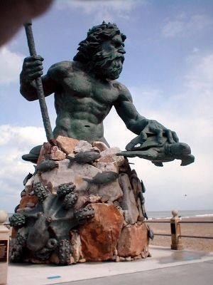 Neptune Statue-close up image. Click for full size.
