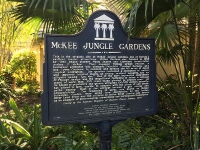 McKee Jungle Gardens Marker image. Click for full size.