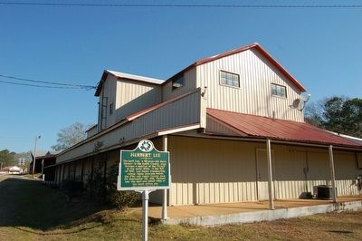Herbert Lee Marker and Cotton Gin image. Click for full size.