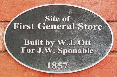 Site of First General Store Marker image. Click for full size.