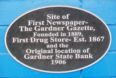 The Gardner Gazette Marker image. Click for full size.