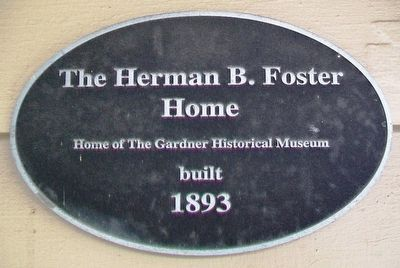 The Herman B. Foster Home Marker image. Click for full size.