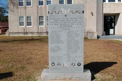 Greater Greensburg Veteran's War Memorial image. Click for full size.