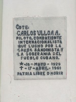 Carlos Ulloa A. Marker image. Click for full size.