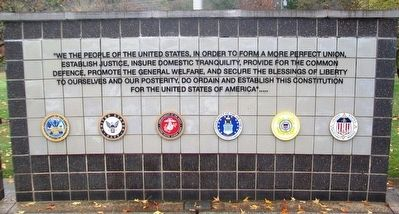 Veterans Wall of Honor Preamble to the US Constitution image. Click for full size.