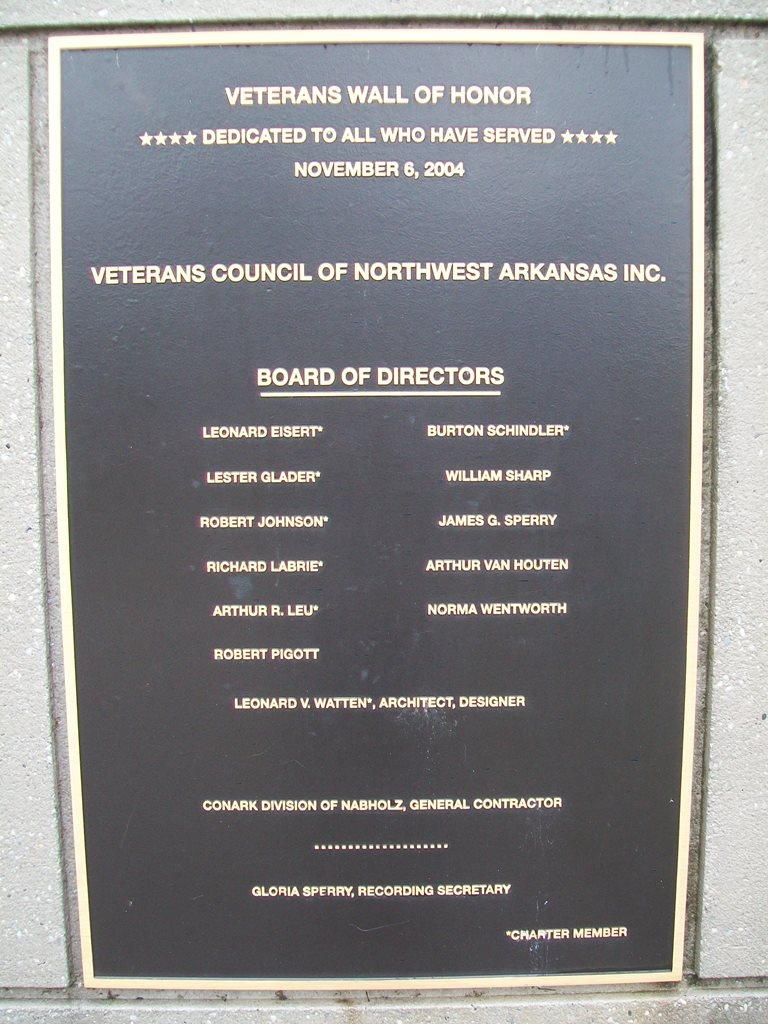 Veterans Wall of Honor Dedication Marker