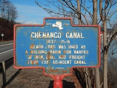 Chenango Canal Marker image. Click for full size.