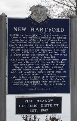 New Hartford Marker image. Click for full size.