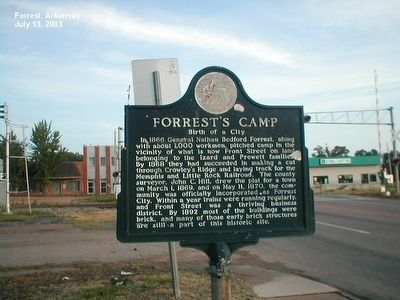 Forrest's Camp Marker image. Click for full size.