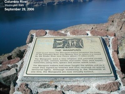The Wanapums Marker image. Click for full size.