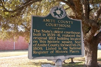 Amite County Courthouse Marker image. Click for full size.