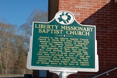 Liberty Missionary Baptist Church Marker image. Click for full size.