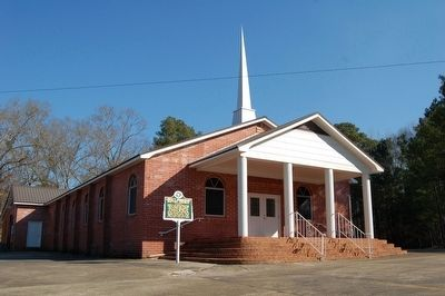 Liberty Missionary Baptist Church and Marker image. Click for full size.