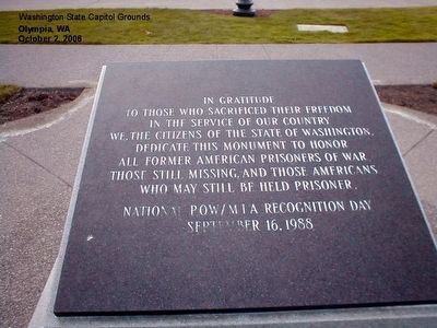 POW AND MIA Monument Marker image. Click for full size.