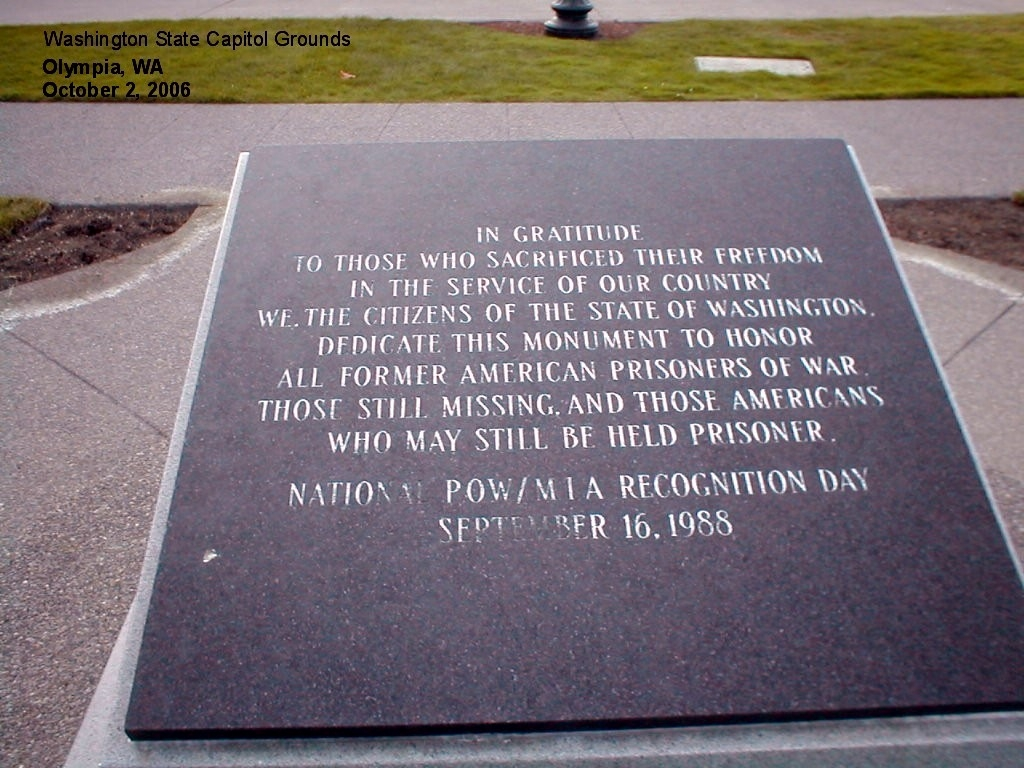 POW AND MIA Monument Marker
