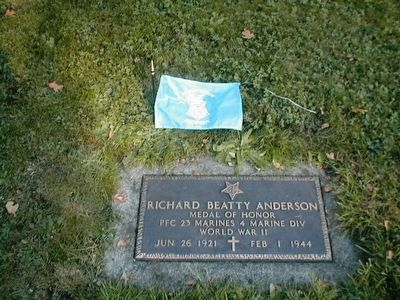 Richard Beatty Anderson-World War II Medal of Honor Recipient image. Click for full size.