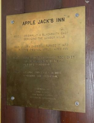 Apple Jack's Inn Marker image. Click for full size.