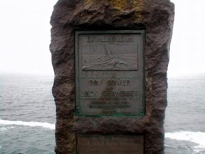 Roy Bower and Jack Chambers Memorial Marker image. Click for full size.